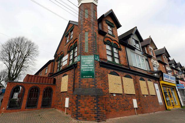 La mosquée d'Erdington, Birmingham, au centre de l'Angleterre, le jeudi 21 mars 2019, avec les...