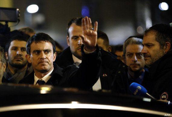 Manuel Valls à l'hypermarché casher porte de Vincennes: