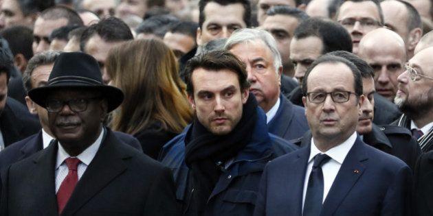 Marche républicaine : Le garde du corps de François Hollande n'a pas laissé les internautes