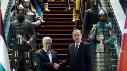 PHOTOS. Turquie: voici comment RecepTayyip Erdogan reçoit Mahmoud Abbas dans son palais à