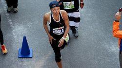 Pamela Anderson a trouvé le point commun entre un accouchement et le marathon de New