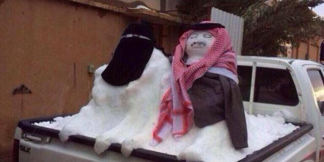 PHOTOS. La fatwa contre les bonshommes de neige d'un prédicateur saoudien moquée sur