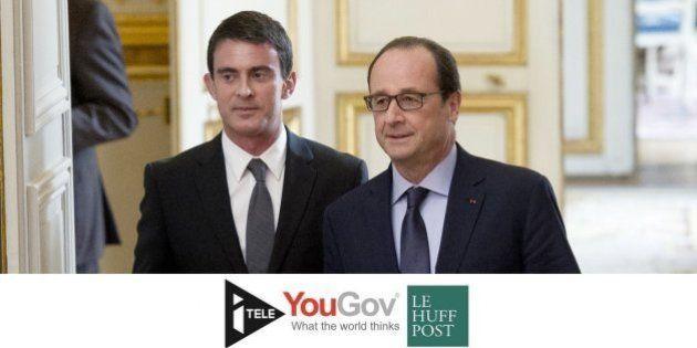 La popularité de François Hollande et Manuel Valls à la mi-janvier janvier [BAROMETRE