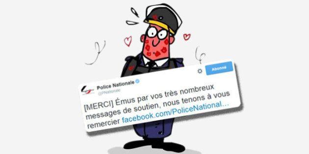 PHOTOS. Après les attentats à Paris, la police remercie les internautes pour leur soutien et leurs