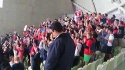 Le chant de ces fans de foot nord-coréens?