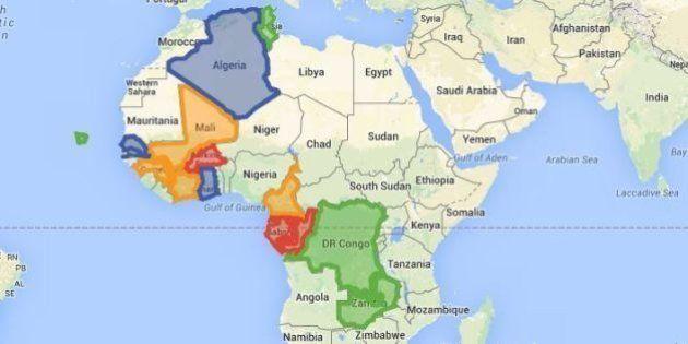 CAN 2015 : les 4 groupes de la compétition sur notre carte