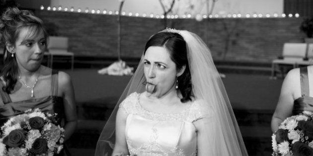 PHOTOS. La grimace de cette mariée a bien fait rire les