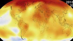 135 ans de réchauffement climatique en 30