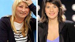 Christine Bravo et Estelle Denis papotent tranquillement de France-Ukraine sur