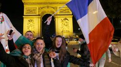 Supporters français et algériens fêtent la qualification de leurs