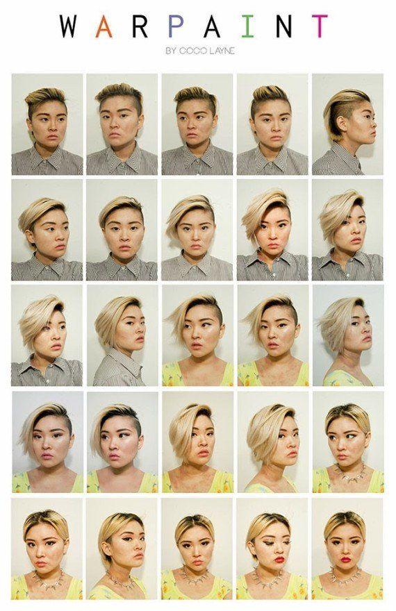 PHOTOS. Transformation : une artiste passe du look de garçon manqué à celui de