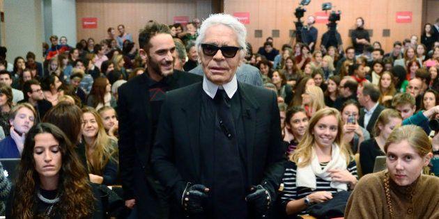 Karl Lagerfeld à Sciences Po: