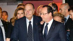 Chirac arrive au bras de Hollande, histoire d'une