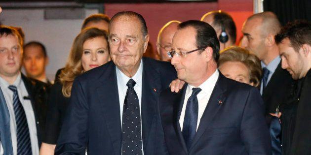 Chirac et Hollande réunis pour la remise du prix de la Fondation