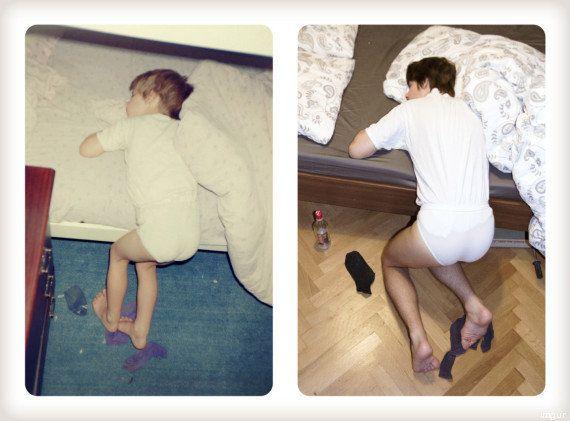 PHOTOS. En cadeau à leur mère, ils reprennent la même pose dans les mêmes décors 20 ans plus