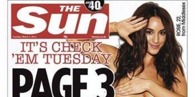 Le topless de la page 3 disparaît du journal (mais continue sur