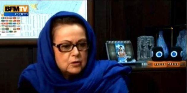 Christine Boutin voilée à la télévision iranienne pour critiquer François