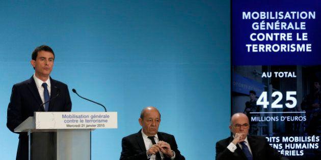 Lutte contre le terrorisme: les annonces de Manuel Valls après les attentats de