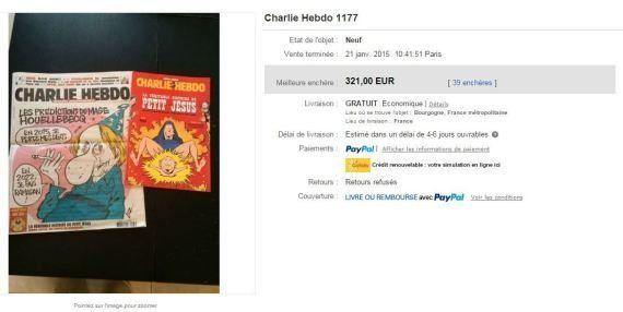 Le numéro de Charlie Hebdo qui s'arrache à prix d'or sur eBay n'est pas celui que vous