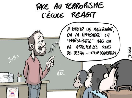 Terrorisme: l'école va nous