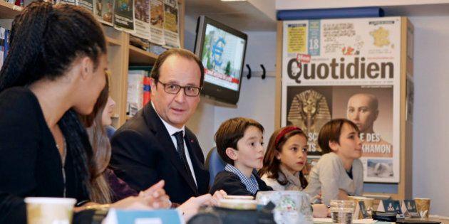 François Hollande devient le rédacteur en chef de Mon Quotidien, journal des 10-14