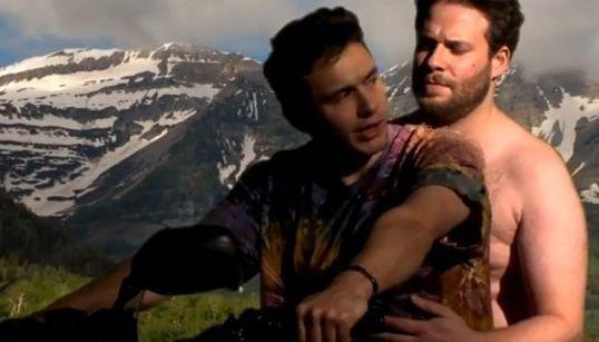 James Franco et Seth Rogen parodient le clip de Kanye