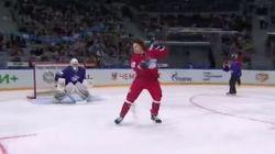 Vous n'avez jamais vu un but de hockey