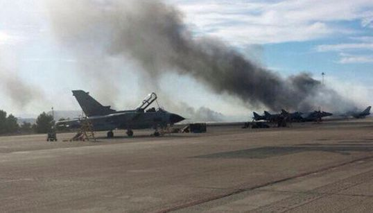 Un F-16 grec s'écrase au décollage en Espagne, 9 Français