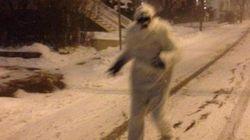 Le blizzard a fait sortir le Yéti de Boston de sa cachette (et un fantôme