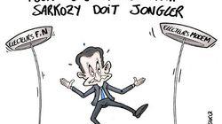 Sarkozy donne de la voix mais manque de