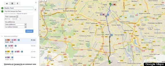 Google Transit: le métro parisien et le RER intégrés aux itinéraires de Google