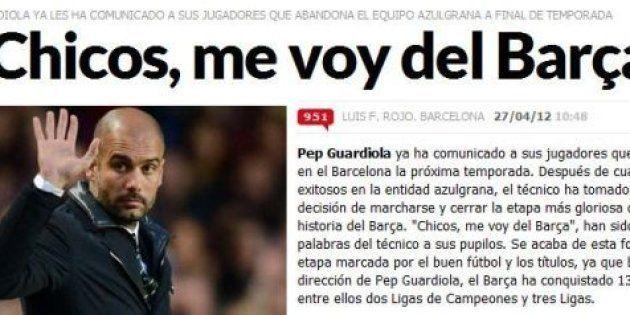 Fin du suspense au Barça: Guardiola annonce son départ - PHOTOS -