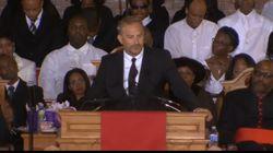Une cérémonie fleuve et émouvante pour Whitney