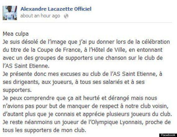 Lyon, football: le chant anti-stéphanois qui fait polémique -