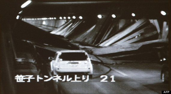 PHOTOS. VIDÉOS. Japon - le tunnel de Sasago s'effondre: au moins 5 morts et des