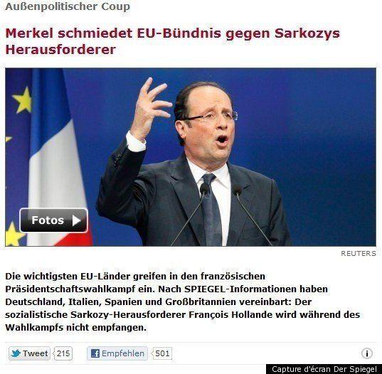 François Hollande boycotté par Angela