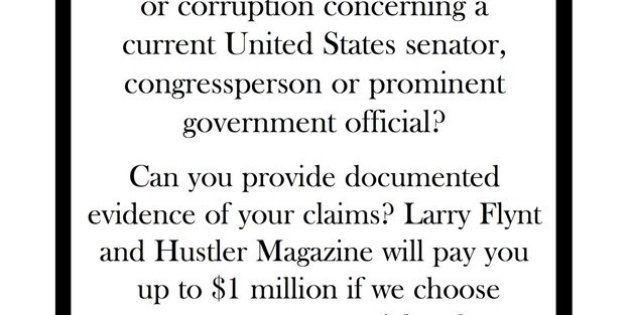 Élections américaines: Larry Flynt offre 1 million de dollars contre des informations sur tout scandale