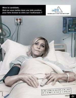 Euthanasie: l'ADMD lance une campagne choc reprenant les