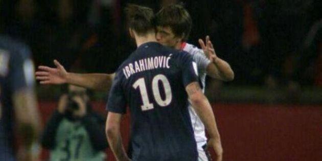 VIDÉO. Le bisou de Renato Civelli à Zlatan Ibrahimovic lors de