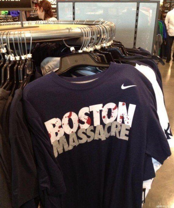 PHOTO. Attentat de Boston: Nike retire de la vente des T-shirts floqués