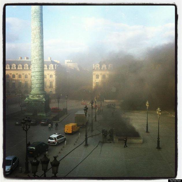 Place Vendôme, incendie: un parking proche du Ritz en feu, de nombreuses voitures de luxe