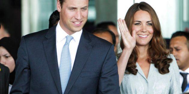 Le prince William et son épouse Kate attendent un