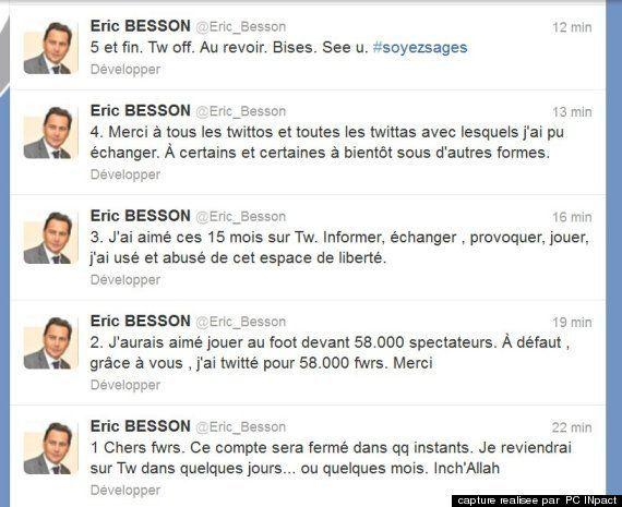 Eric Besson quitte