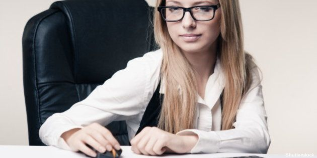 portrait of young office worker ...
