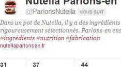Nutella contre-attaque avec un compte