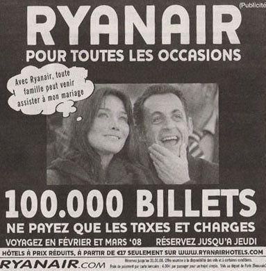 Publicité : le jet de François Hollande inspire la campagne d'une compagnie