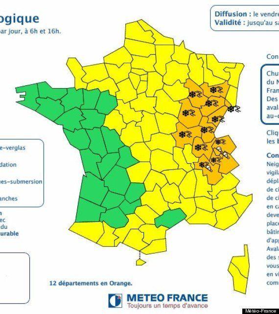 PHOTOS. Neige: 12 départements de l'est de la France restent en vigilance