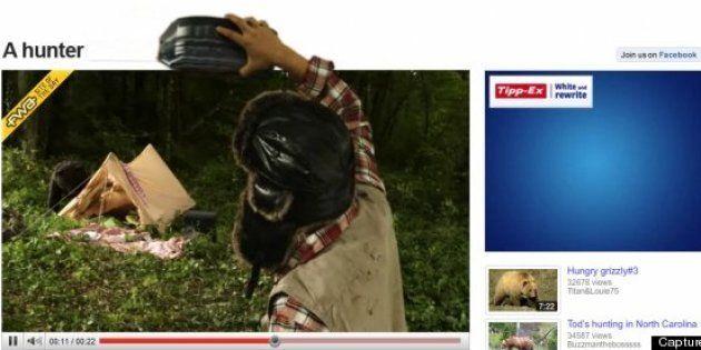 Tippexperience 2: le retour de l'ours et du chasseur de la campagne Tipp-Ex sur Youtube