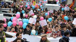 Mariage gay: partisans et opposants défilent dans le calme en