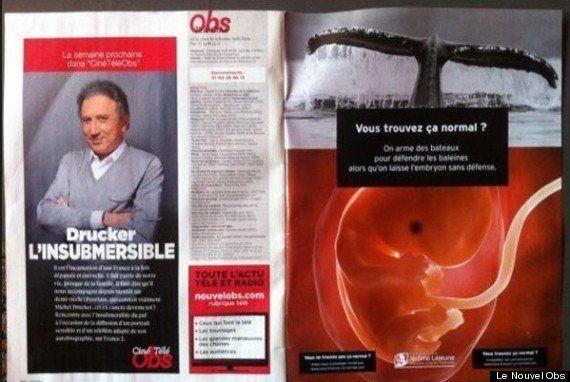 Une pub anti-IVG dans Le Nouvel Observateur enflamme